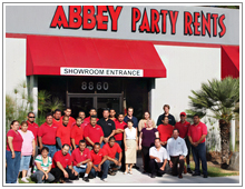 abbey party rents staff