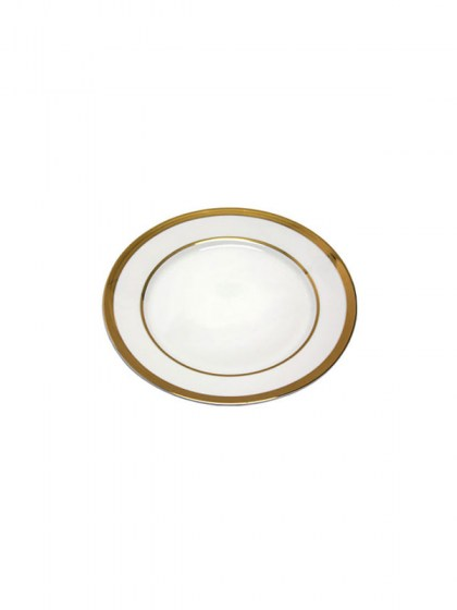 Gold Trim Salad Plate 7.5 in  sc 1 st  Abbey Party Rentals & White with Gold Trim Dinnerware